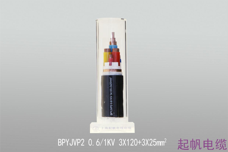 变频电缆BPYJVP2 0.6 1KV 3X120+3X25mm2