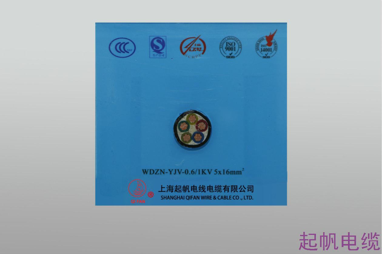 交联聚乙烯绝缘聚氯乙烯护套电力电缆WDZN-YJV-0.6 1KV 5X16mm2